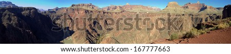 South Kaibab Trail in Grand Canyon National Park in Arizona - stock photo