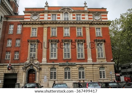 SOUTH KENSINGTON, LONDON, UK - MAY 07 2012: Exterior of the Science Museum in Exhuibition Road, London - stock photo