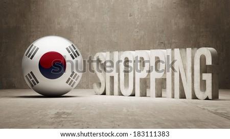 South Korea High Resolution Shopping - stock photo