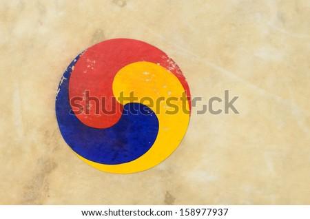 South Korean symbol of drum - stock photo
