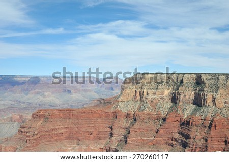 South rim of the Grand Canyon - stock photo