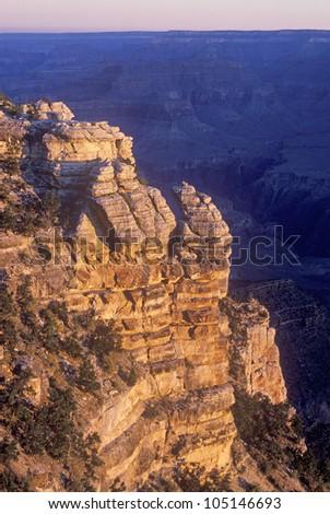 South Rim of the Grand Canyon, Arizona - stock photo