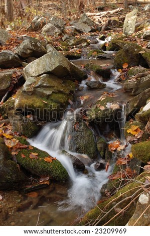 South River Falls Trail - Shenandoah National Park, Virginia - stock photo