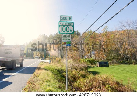 South Vermont road sign, United States - stock photo