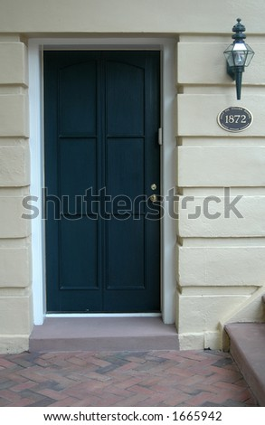 Southern historic district doorway - stock photo
