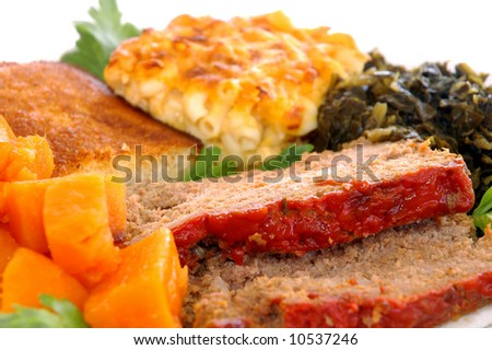 Southern meatloaf 2 - stock photo