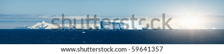 Southern Orkney Islands in antarctic area - stock photo