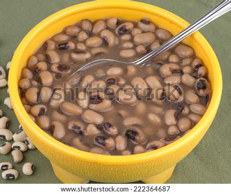 Southern style black eye peas - stock photo