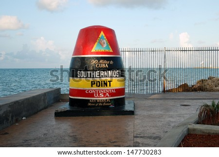 Southernmost Point - stock photo