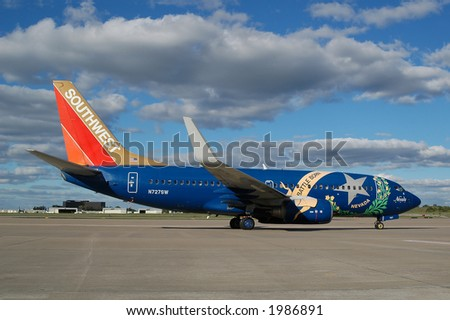 "Southwest Airlines ""Nevada One"" on the tarmac - stock photo"