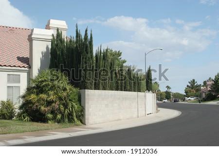 Southwest neighborhood - stock photo