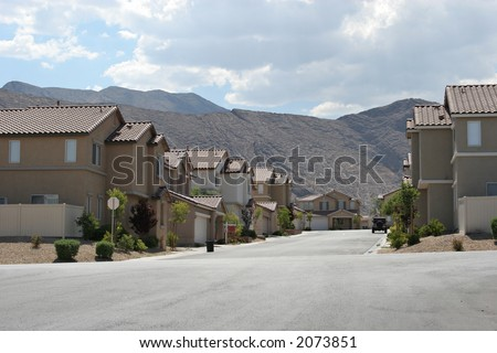 Southwest neighborhood - stock photo