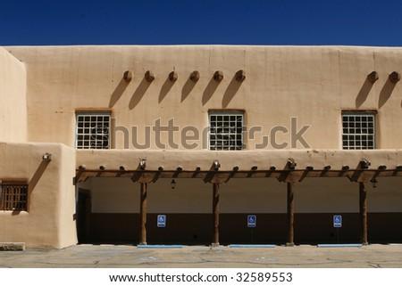 Southwestern pueblo style architectural detail - stock photo