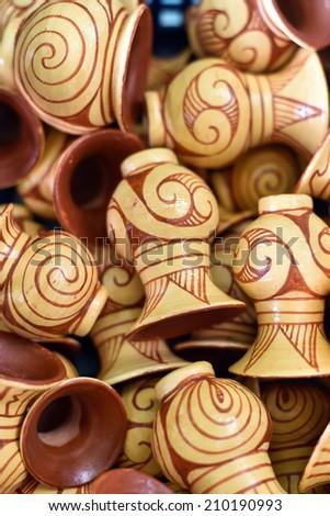 souvenir Ancient Earthenware, Ban Chiang, Udornthani, Thailand  - stock photo