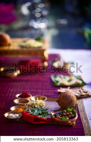 souvenir and decoration in wedding ceremony  - stock photo