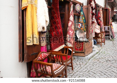 Souvenir shop in Ankara, Turkey - stock photo