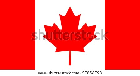 Sovereign state flag of country of Canada in official colors. - stock photo