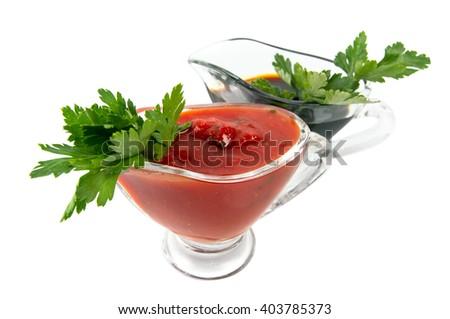 Soy and tomato sauce  - stock photo