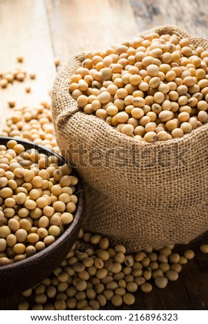 Soy beans - stock photo