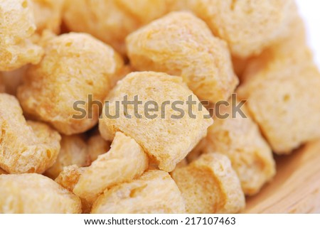 Soy protein , Textured Vegetable Protein ,for vegan food - stock photo
