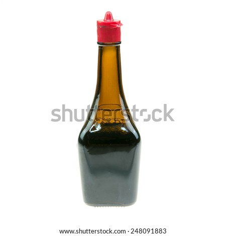 soy sauce bottle - stock photo