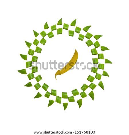 Soybean on white background cutout. - stock photo