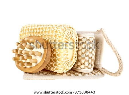 SPA accessories isolated on a white background - stock photo