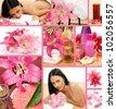 spa, an aromatherapy, massage - stock photo
