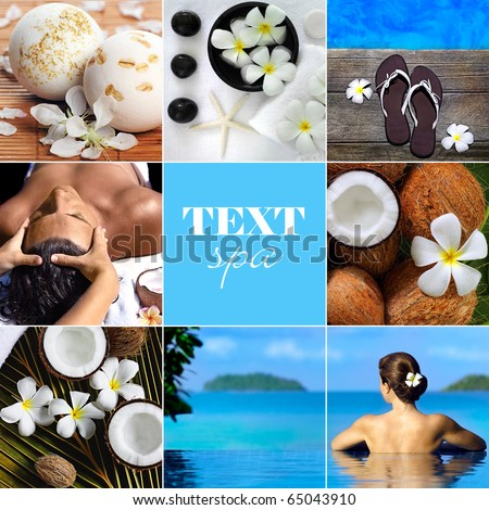 spa and beauty collage - stock photo