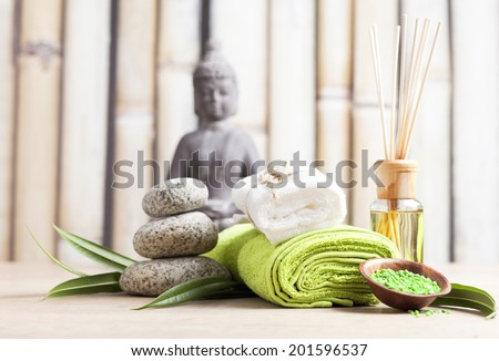 SPA and meditation background  - stock photo