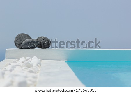 SPA at Santorini island Greece - stock photo