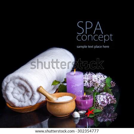SPA background. Shallow DOF - stock photo