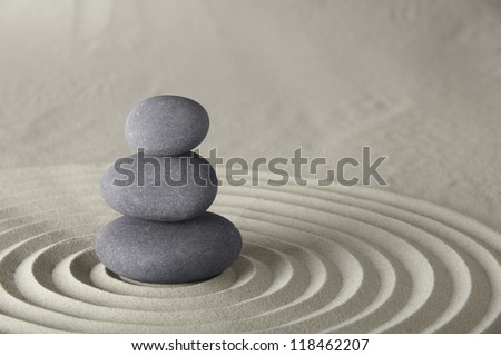spa background stones balance in zen garden concept for spirituality meditation concentration and relaxation - stock photo