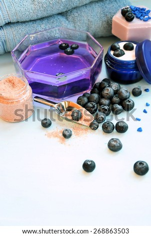 Spa blueberry - stock photo