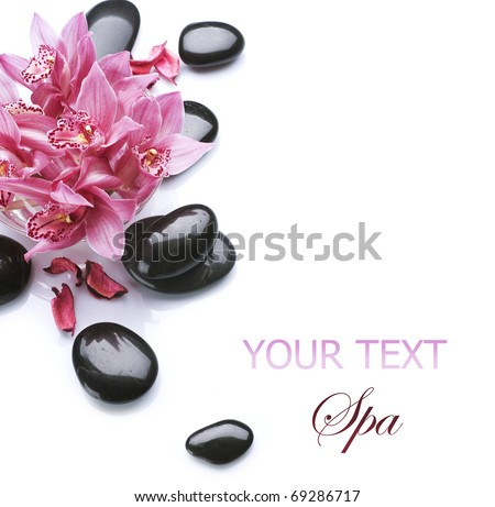 Spa border design - stock photo