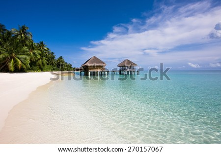 Spa-center on the water in the Indian ocean. Relax concept - stock photo