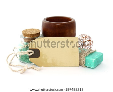 spa composition isolated on white background - stock photo