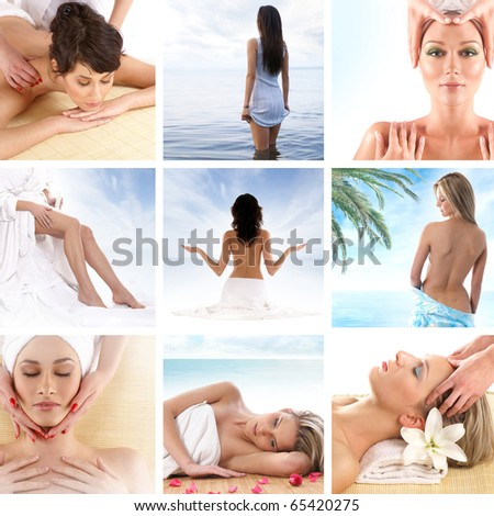 Spa composition of some beautiful pictures - stock photo