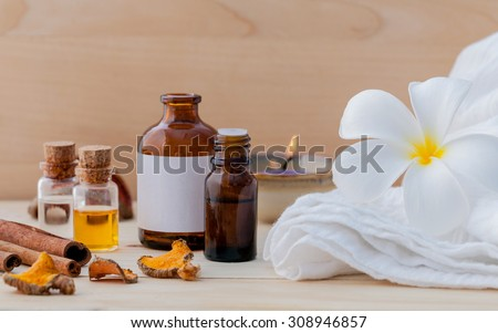 Spa Essential Oil - Natural Spas Ingredients for aroma aromatherapy. - stock photo