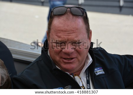 """SPA-FRANCORCHAMPS, BELGIUM - MAY 6: Former American racing driver and current team owner Floyd """"Chip"""" Ganassi jr. (Ford) during round 2 of the FIA WEC on May 6, 2016 in Spa-Francorchamps, Belgium. - stock photo"""