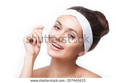 Spa Girl. Perfect Skin. Skincare - stock photo