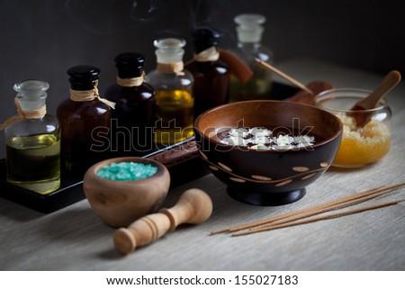 Spa ingredients  - stock photo
