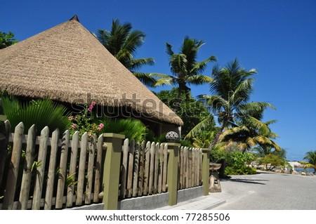Spa luxury resort, Seychelles - stock photo