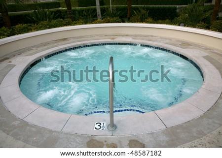 Spa or hot tub - stock photo