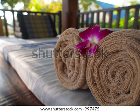 Spa Relaxation Bed - stock photo