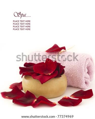 spa rose treatment - stock photo