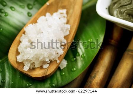 Spa Salt - stock photo