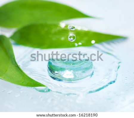 Spa still life (shallow DoF) - stock photo