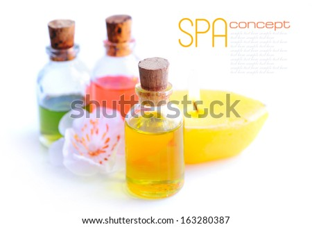 SPA still life with essential oil - stock photo