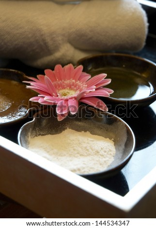 Spa still life with Thai herbal - stock photo
